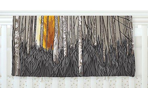 KESS InHouse Sam Posnick Smokey Forest Fire Brown Orange Fleece Baby Blanket 40 x 30 [並行輸入品]   B077Z4HGYP
