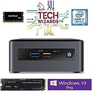 Intel NUC NUC8i7BEH Mini PC/HTPC, Intel Quad-Core i7-8559U Upto 4.5GHz, 16GB DDR4, 500GB SSD, WiFi, Bluetooth, Thunderbolt 3, 4K Support, Triple Monitor Capable, Windows 10 Pro (16GB Ram + 500GB SSD)