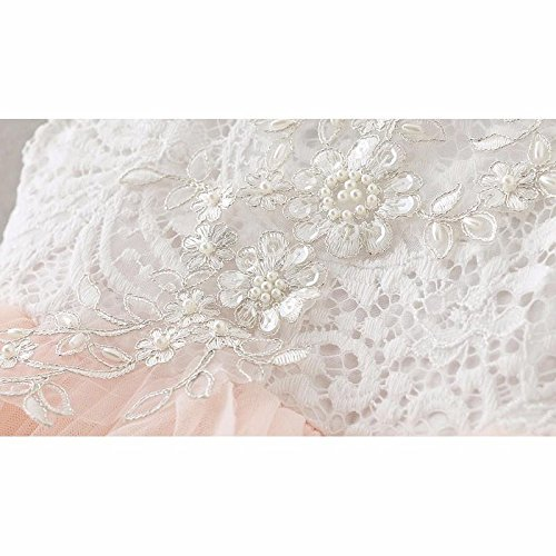Topmaker Backless A-line Lace Back Flower Girl Dress (9-10Y