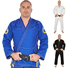 Gold BJJ Jiu Jitsu Gi - Ultra Strong Gold Weave Premium Kimono - IBJJF Competition Approved Uniform