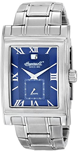 Ingersoll Men's INQ031BLSL Kensington Analog Display Japanese Quartz Silver Watch