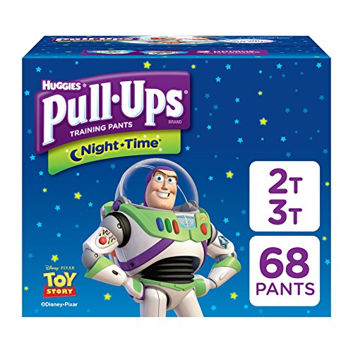 (Pull-Ups Night-Time Potty Training Pants for Boys, 2T-3T (18-34 lb.), 68 Ct. (Packaging May Vary))