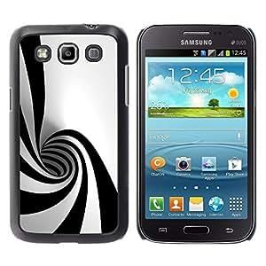 LASTONE PHONE CASE / Slim Protector Hard Shell Cover Case for Samsung Galaxy Win I8550 I8552 Grand Quattro / Black White Hypnotic Shape Tunnel Art Psychedelic