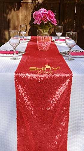 Sequin Table Runner TableCloth Valentines