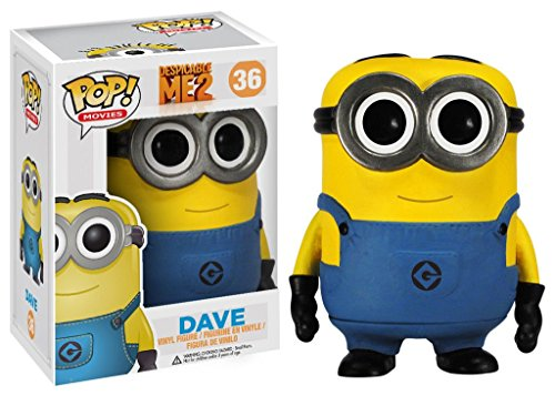 Funko Pop Movies Despicable Me 2 Dave Minion Vinyl Action Figure Collectible -