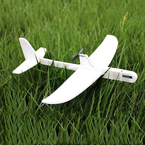 Upgraded Super Capacitor Electric Hand Throwing Free-Flying Glider DIY Airplane White