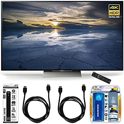 Sony XBR-75X940D 75-Inch Class 4K HDR Ultra HD TV Accessory Bundle includes Television, Screen Cleaning Kit, Power Strip with Dual USB Ports and 2 HDMI Cables