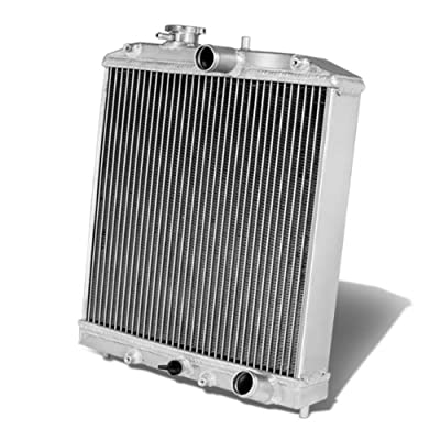 Replacement for Civic/Del Sol/Integra (Manual Transmission) 3-Row 60mm Racing Radiator+12 inches Black Fan: Automotive