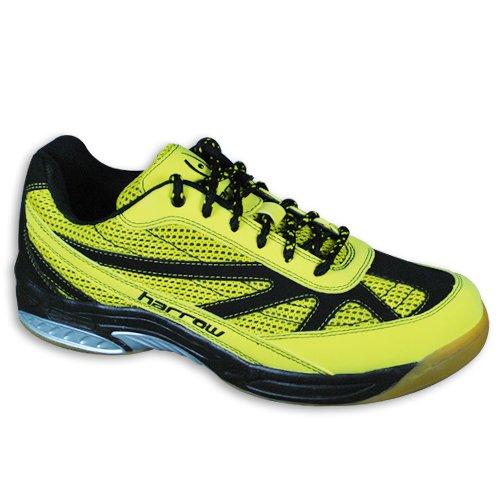 Harrow Sneak Indoor Court Shoe, 7.5, White/Grey