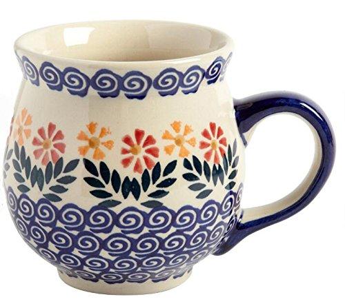 polish-pottery-cheery-flowers-handmade-barrel-mug-16-oz