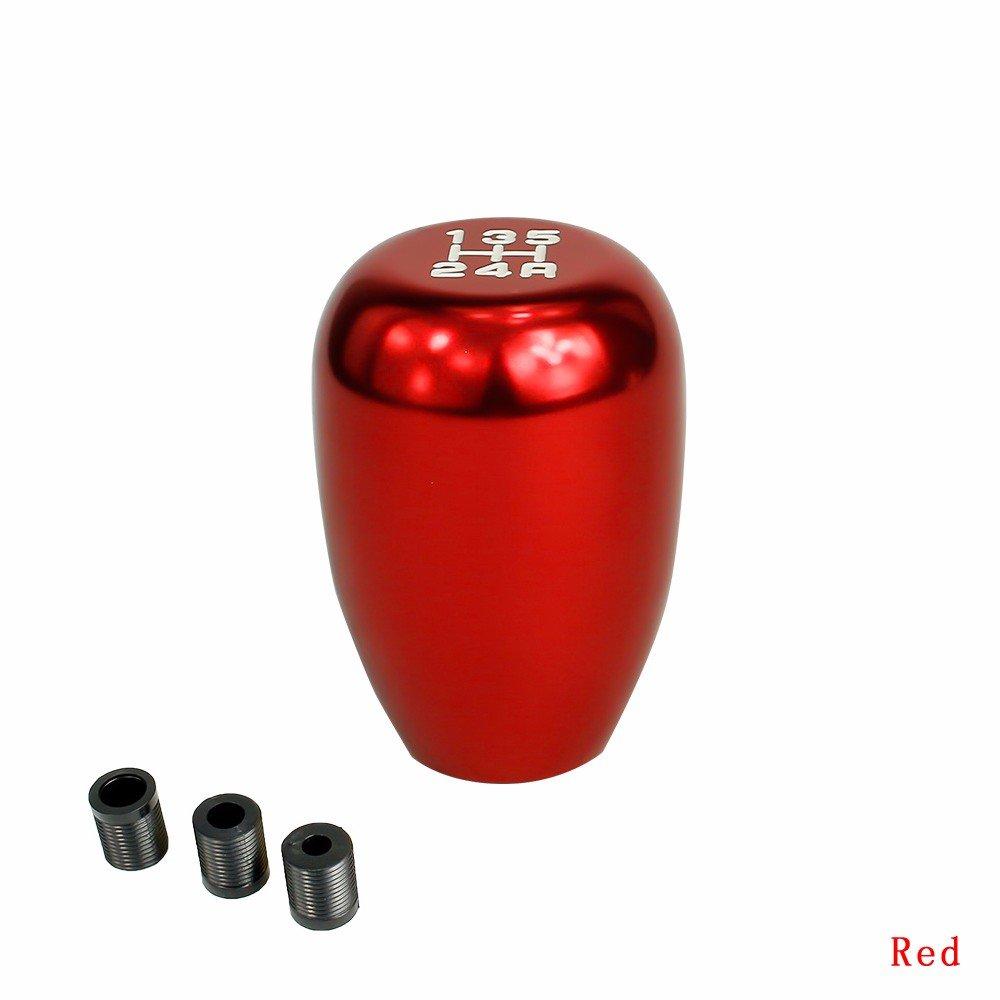 Schaltknauf Praktisch Schalthebel-Taste Wechselknopf Car Shifter Stick Knopf Aluminium Auto-Schalthebelschaltung Universal