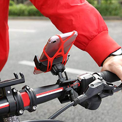 Gavita-Star - Bike Bicycle Motorcycle Handlebar Mount Holder Phone GPS 360 Rotated Stand Bracket with Silicone Support Band Holder