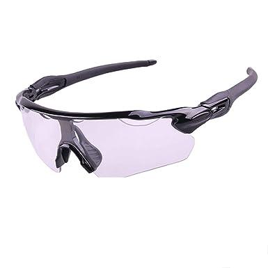 Daesar Gafas de Sol Gafas Moto Hombre Negro Unisex Gafas de ...