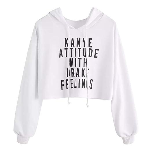 Amazon.com: NRUTUP Sweatshirts for Teen Girls, Womens Casual Letter Printed Long Sleeve Sweatshirts Women Pullover.: Clothing