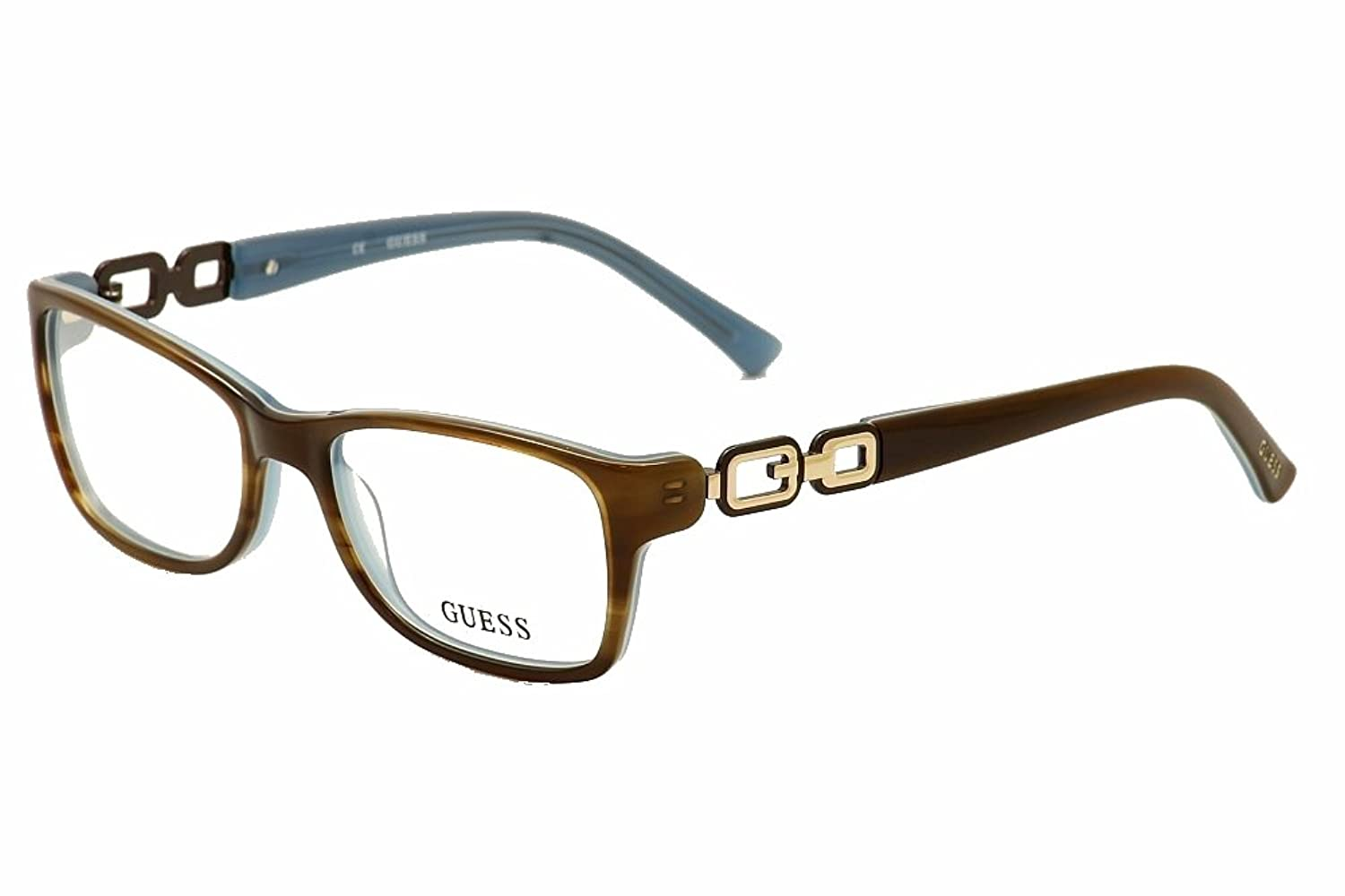 Guess Women\'s Eyeglasses GUA2406 2406 BRNBL Brown/Blue Full Rim ...