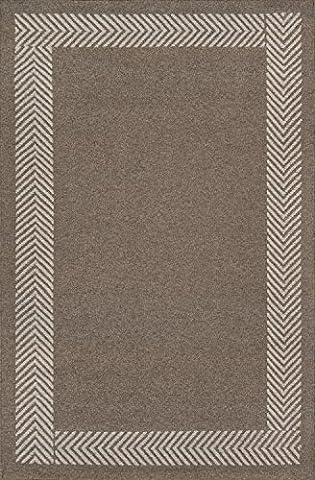 Momeni Rugs MESA0MES-8NAT2030 Mesa Collection, 100% Wool Hand Woven Flatweave Transitional Area Rug, 2' x 3', Natural (Big Circle White Fur Rug)