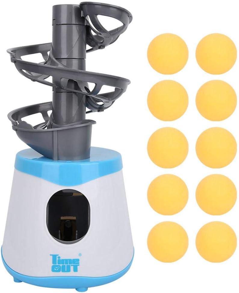 VGBEY Máquina de la Bola del Tenis de Mesa, Robot automático de los Tenis de Mesa del Lanzador de la Bola de Ping-Pong con 15 Bolas para los niños Juguete interactivos Padre-Hijo
