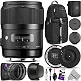 Sigma 35mm F1.4 ART DG HSM Lens for NIKON DSLR Cameras w/Sigma USB Dock & Advanced Photo and Travel Bundle