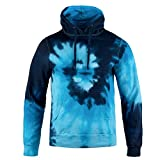 ocean blue tie dye shirt - Magic River Tie Dye Hooded Sweatshirt - Blue Ocean - Adult Medium Hoodie
