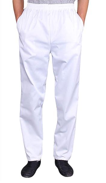 Insun Uomo Pantalone da Cuoco Pantaloni da Chef Pantalaccio Pantalone da  Lavoro  Amazon.it  Abbigliamento 6100567a14f1