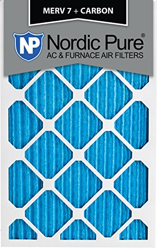 Nordic Pure 10x20x1 MERV 7 Plus Carbon AC Furnace Air Filters, Qty 6