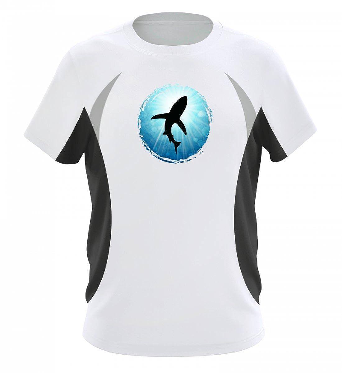 XASTY Tauchen Gerä tetauchen Freitauchen Apnoe T-Shirts Hoodies Hai Ocean Taucher Tauch - Herren Laufshirt Tailliert Geschnitten Shirtee D43YWLCA_JN391__S__6757