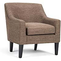 Simpli Home Pauline Club Chair, Fawn Brown