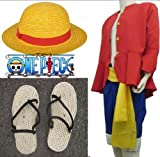 L size two years later Cosplay Costume clothes straw hat of one piece ONE PIECE Luffy (japan import) by Lucky Store