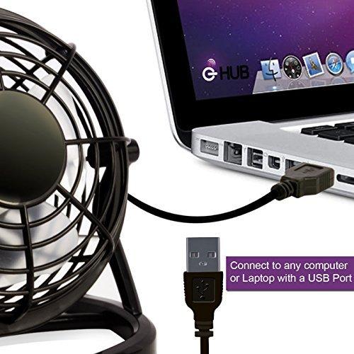 G hub ventilatore da scrivania con presa usb non for Ventilatore verticale