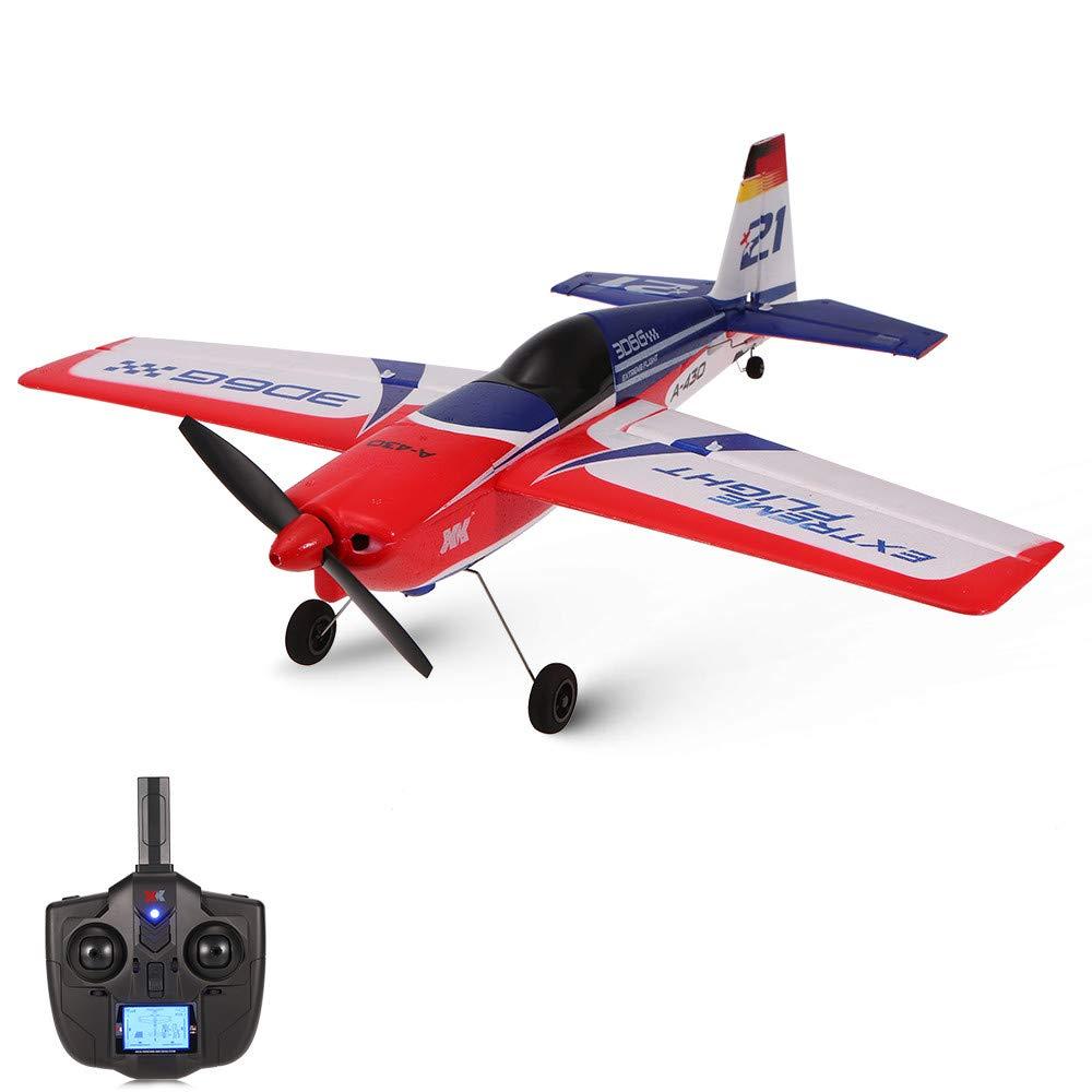 Bescita Fernbedienung RC Radio Flugzeug Drone Flugzeug Gyro, Original Wltoys XK A430 3D/6G 5CH 2.4G RC Flugzeug Brushless Motor für Einsteiger