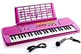 Ellegance KB49PK Children 49 Keys Electronic Piano Music Keyboard, Pink