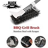 TOOVREN Grill Brush Scraper 18 inch Stainless Steel Bristles BBQ Cleaning Brush for Weber Gas Grill Grates
