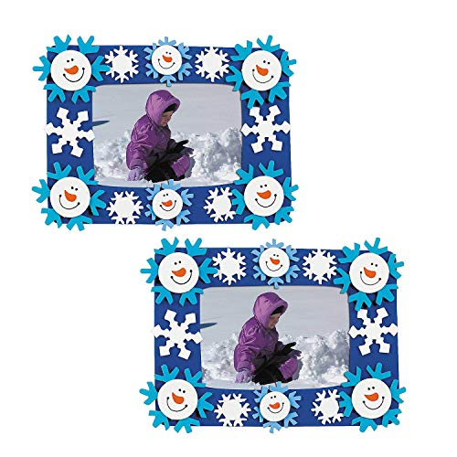OTC 24 Foam Smile Face Snowman Photo Frame Magnet Craft Kits (Smile Picture Frame)