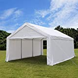 Quictent 13ftx20ft Carport Heavy Duty Car Canopy Galvanized Car Shelter with Reinforced Ground Bars