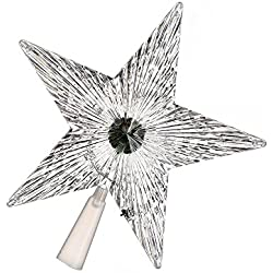 Hanbaili LED Five Pointed Star Lamp Light Christmas Tree Topper ,Small Size