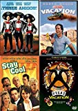 4 Chevy 3 Amigos Traveling Laughs National Lampoon's Vacation + Vegas & Three Amigos + Stay Cool Film Bundle