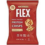 PopCorners Flex Barbecue Vegan Protein Crisps | Plant-Based Protein, Gluten Free Snacks | (24 Pack, 1 oz Snack Bags)