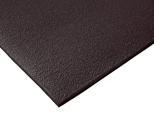 NoTrax 411 PVC Sof-Tred Safety/Anti-Fatigue Floor Mat, for Dry Areas, 3' Width x 60' Length x 3/8'' Thickness, Black by NoTrax