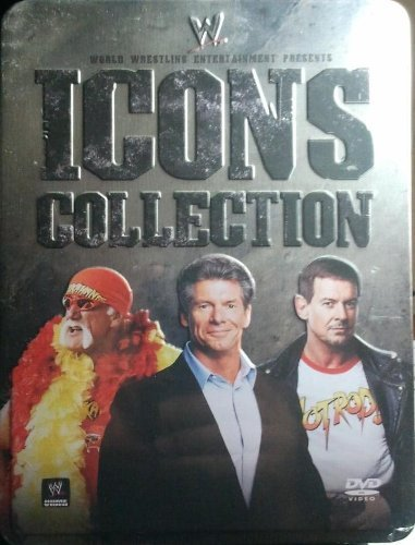 WWE Icons Collections Tin Box Gift Set : Hulk Hogan Ultimate Anthology , Vince Mcmahon , the Roddy Piper Story - 8 Discs - 24 Hours Run Time (Wwe Tin Dvd)