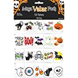 """Family Friendly Halloween Tattoo Party Favour, Plastic, 12"""" x 7"""" Pack of 120"""