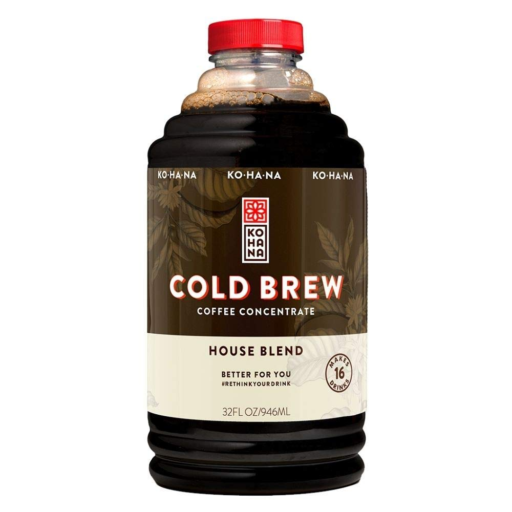 Kohana Coffee Cold Brew Coffee Concentrate, House Blend, 32 ounce, Makes 16 drinks