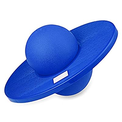Pogo Ball, Anytec Fun Hopper Sports High Balance Bounce Jump Board Ball Platform Fitness Ball for Kids Ages 6 Up and Adults - Holds up to 220 LB (Blue): Sports & Outdoors