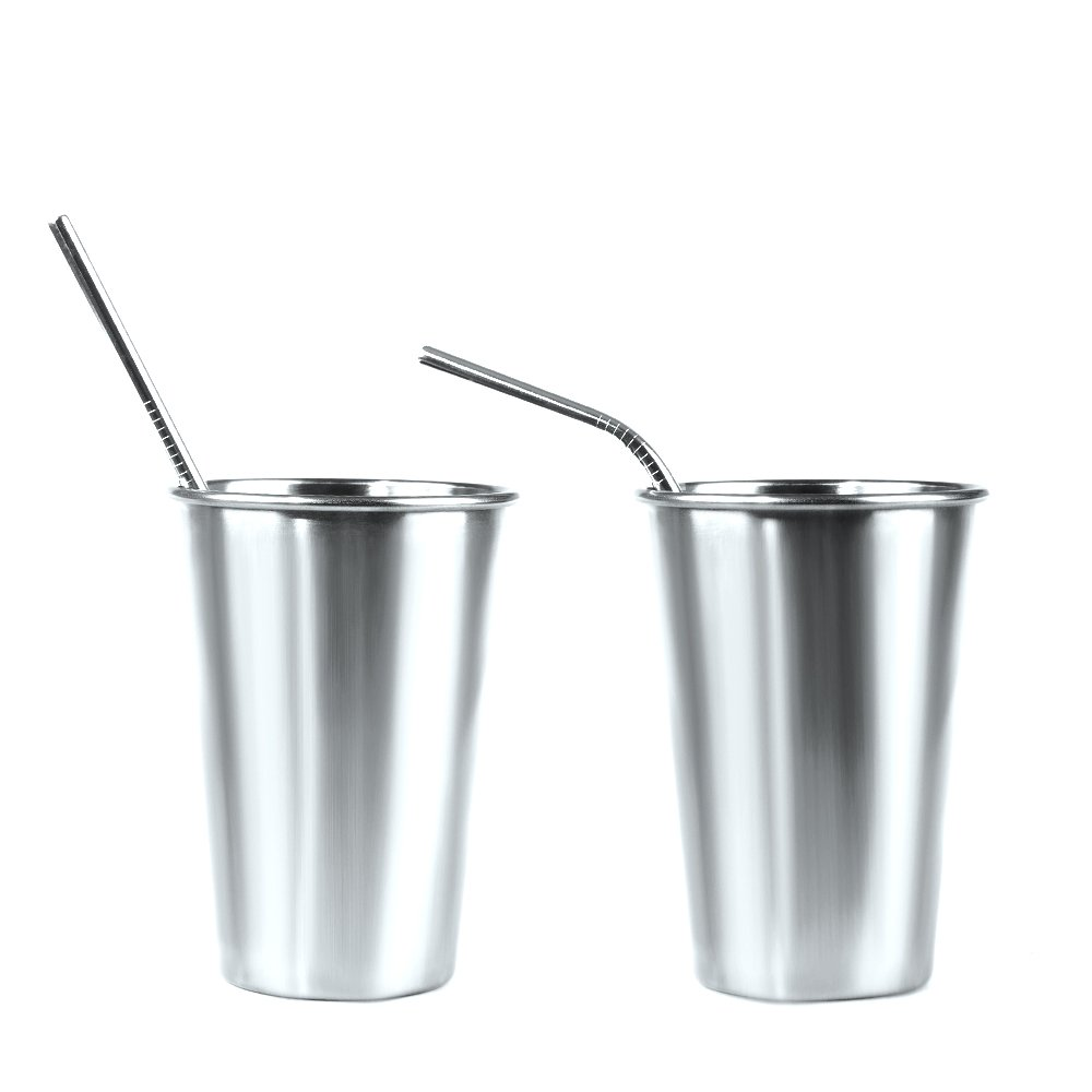 Racksoy Umweltfreundliche wiederverwendbare Edelstahl Trinkhalm Getränke Strohhalme 8,5 Zoll 4 Bent & 4 Straight für Saft Milch Kaffee 20 OZ Yeti Tumbler Soda mit 2 Reinigungsbürsten(4 gebogene, 4 gerade Strohhalme, 2 Reinigungsbürsten.)