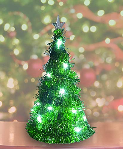 Product Works Tiny Lites Battery Operated Silver Wire Indoor LED Light String Blue 9.8 Feet