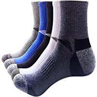 Thsbird Men's Breathable Crew Ankle Socks Athletic Short Running Sock Pack of 5
