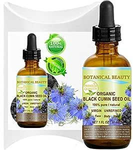 ORGANIC BLACK CUMIN SEED OIL - Nigella sativa. 100% Pure/Natural/Virgin/Undiluted. For Skin, Hair, Lip and Nail Care .1 Fl.oz.- 30 ml
