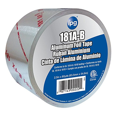 IPG  UL181 Aluminum Foil Tape, 2.5' x 60 yd, (Single Roll)