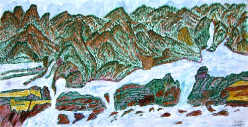 Forest Mountains Limited Edition Fine Art Giclee Korean Landscape by James Na...