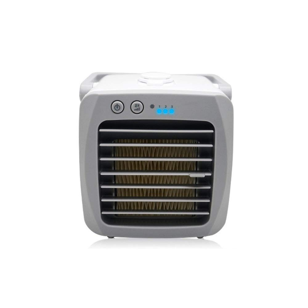 Air Cooler Personal Air Conditioner Fan Personal Space Cooler,Household Mini Cooling Fan Cooling Wet Small Desktop Cooler Fan Silent,Perfect for Office, Lounge, White (Color : White) by LyJ+evanism