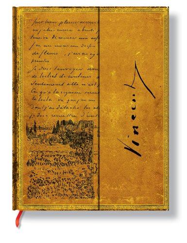 Faszinierende Handschriften Van Gogh Skizze in einem Brief - Faux Leder - Notizbuch Groß Liniert - Paperblanks